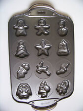 Norpro Christmas Cookie Sheet 12 Shapes Gingerbread Holiday Nonstick Baking Pan