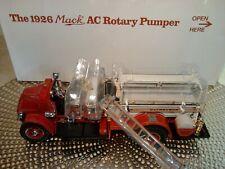 Danbury Mint 1926 Mack Ac Rotary Pumper Firetruck Rare 1:32.Nib.Undisplayed