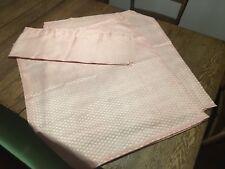 "Vtg 2 pr Shabby Chic Dusty Pink Silky Sheer Pattern 36"" Curtains & Valences"