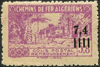 """COLONIES ALGÉRIE COLIS POSTAUX N° 158b (Maury) NEUF** Variété """"SANS SURCHARGE"""""""