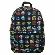 Super Mario Bros. icônes AOP sublimées Ordinateur Portable Sac à dos sac d'école-Nintendo