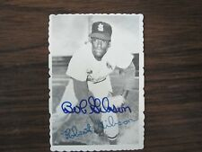 1969 Topps Deckle Edge #29 BOB GIBSON Autograph / Signed card St Louis Cardinals