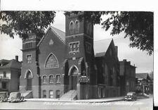 trinity methodist church maberly, missouri real photo postcard 1940s era