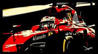 Michael Schumacher Ferrari Formula 1 Art Print Glossy 8x6 Inches Hologram F1