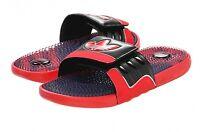 New Adidas TREFOILSSAGE Slides Sandals Mens Shoes Red Black Flip Flops adipure