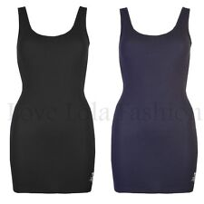 Womens Vests Ladies Long Vest Dress Brody & Co Stretch Beach Pool Sleeveles Tops