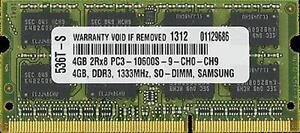 4GB MEMORY FOR HP ELITEBOOK 2540P 2740P 8440P 8540P 8440W 8540W 8740W