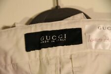 Gucci trousers white men cotton pants euro size 48