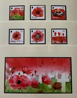 JE58) Jersey 2014 Poppies set of 6 & M/S MUH