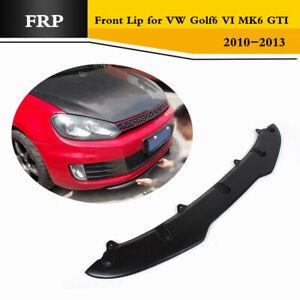 Front Bumper Lip Body Kits Fit For VW Golf VI 6 MK6 GTI 2010-2013 Black FRP