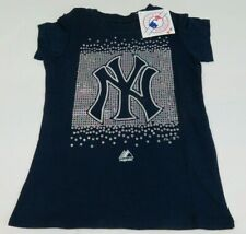 MLB New York Yankees Majestic Youth T Shirt Girls Size Small New