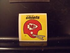 1977 NFL Football Helmet Sticker Decal Kansas City Chiefs Sunbeam Bread