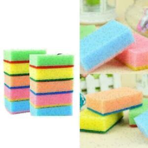 1PC Cleaning Sponge Brush 9*6*3CM Random color D8P5