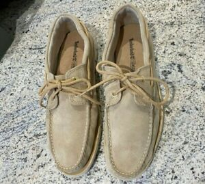 Mens Leather Timberland Boat Shoes