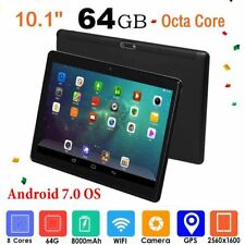 """10.1"""" Android 7.0 Tablet PC 4GB+64GB Octa Core WIFI GPS Phone Pad Ph I9♡"""
