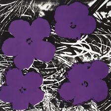 Andy Warhol Flowers Purple póster imagen son impresiones artísticas 60x60cm