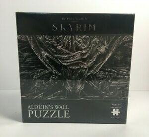 The Elder Scrolls V Skyrim Alduin's Wall Jigsaw Puzzle 1000 Pieces SEALED