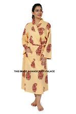 Paisley Print Cotton Robe Dressing Gown Wedding Bride Bridesmaid Women Sleepwear