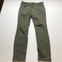 Ann Taylor The Skinny Modern Fit Olive Green Jeans Size 6P A362