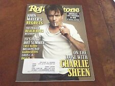 ROLLING STONE MAGAZINE Issue 1159 Charlie sheen