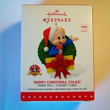 Hallmark Keepsake Ornament Merry Christmas, Folks! Porky Pig - Looney Tunes