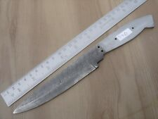 "9.50"" custom made hunting Damascus steel knife blank blade side ladder 3462"