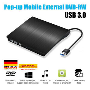 Externes DVD Combo CD & DVD Laufwerk CD Brenner USB Extern Notebook PC Netbook