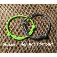 NEW! 2 x Adjustable Knot 550 Paracord Bracelets, Friendship Anklets TJPARACORD