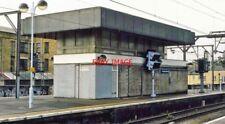 PHOTO  HACKNEY DOWNS  RAILWAY STATION SIGNAL BOX -  CLOSED AUTUMN 2006