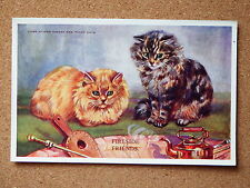 R&L Postcard: M Gear, Mabel Gear Cat Series, Valentine's 1877 Ginger & Tabby