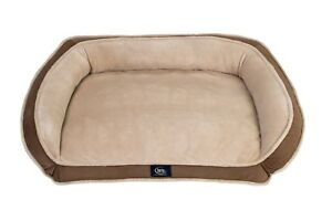 Serta Orthopedic Memory Foam Couch Pet Soft Bed Large Dog Durable With Pillow