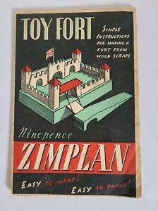 Vintage Zimplan Toy Fort Instructions