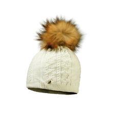 Starling Sandi Beanie Faux Fur Bobble Hat Cream
