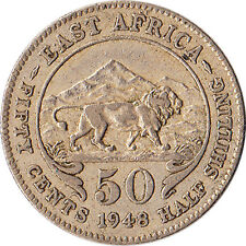 1948 East Africa (British) 50 Cents Coin KM#30