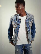 TRUE RELIGION JIMMY SUPER T MEN JEAN JACKET WORN FLAGSTONE MR62NVO6 NWT L $359