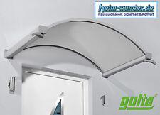 Gutta - Rundbogenvordach NO-160, Edelstahl-Optik, Maße: 160 x 90 x 30 cm (BxTxH)