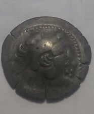 Rare Ancient Celtic tribe Barbarous silver drachm coin Alexander Thrace Heracles