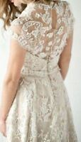 Custom Full Lace Vintage Bridal Gown Wedding Dress Size 4-6-8-10-12-14++