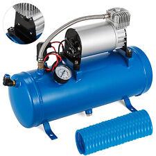 air compressor with 6 liter tank 120psi dc 12v for train horns blue tank gauge