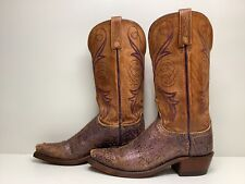 #W VTG WOMENS LUCCHESE 1883 SNIP TOE COWBOY DISTRESSED BROWN BOOTS 7.5 B