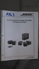 Bose acoustimass 6 service manual original book home theater speaker system