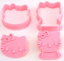 Hello Kitty Cookie Cutter with Hand Press Stamp Set - Biscuit Fondant Mold