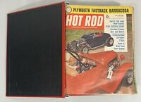 HOT ROD & CUSTOM MAGAZINE LOT OF 16 ISSUES JUL 1964- OCT 1965 HOT ROD RED BINDER