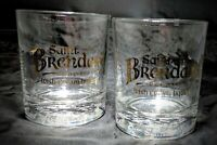 Saint Brendans Superior Irish Cream Liqueur Highball Glass Cups Embossed Liquor