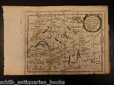 1742 Color Copper MAP of SWITZERLAND Zurich Italy France Geneva 15 X 23cm