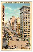 1941 Broadway at Seventh, Los Angeles, CA Postcard
