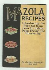 1915 Cookbook Mazola Recipes Corn Products Refining Co NY Pure Corn Oil Lincoln