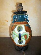 Ancien vase asiatique en céramique monté en lampe Parfait état