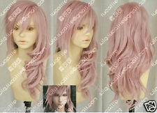 Hot Sell! Final Fantasy Lightning Srah New Long Mix Pink Cosplay Wig W20