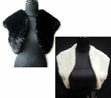 WEDDING BRIDAL FAUX FUR BOLERO/JACKET/STOLE/SHAWL/SHRUG/WRAP/CAPE GOOD QUALITY